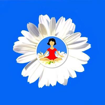 Digital Art - Meditation logo by Mhairi C James