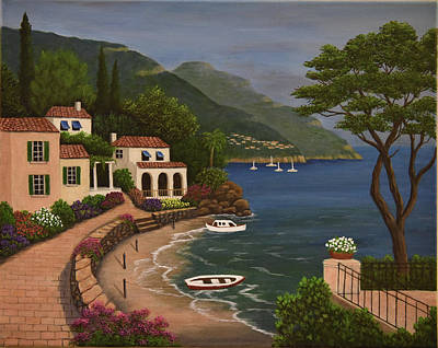 Painting - Mediterranean Coast by Gloria Johnson