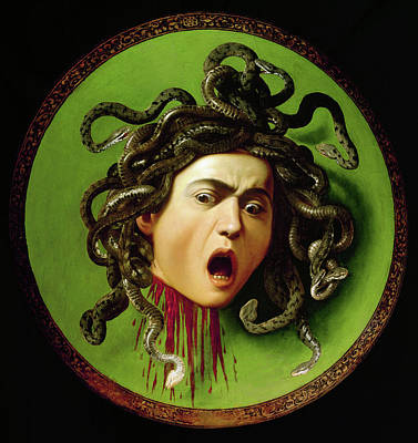 Gorgon Wall Art - Painting - Medusa by Michelangelo Merisi da Caravaggio