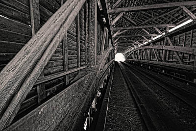 Photograph - Meems Bottom Covered Bridge. Shenandoah Valley, Va by Bill Jonscher