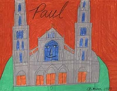 Drawing - Meet Mr. Paul by Barb Moran