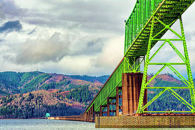 Photograph - Megler Bridge Spanning The Columbia by Dee Browning