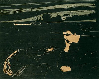 Relief - Melancholy IIi by Edvard Munch