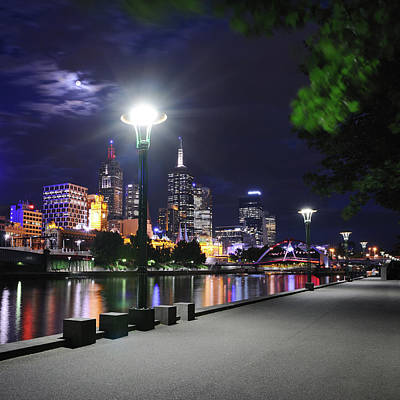 Photograph - Melbourne Skyline With Yarra River At by 4fr