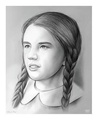 Drawing - Melissa Gilbert by Greg Joens