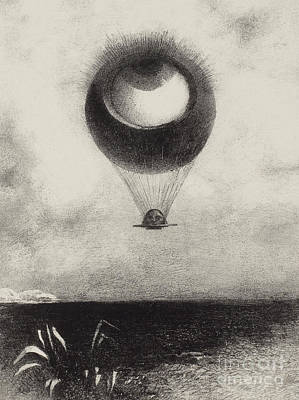 Drawing - Mellerio  Eye by Odilon Redon