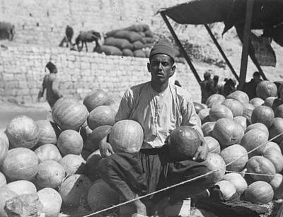 Photograph - Melon Sellers by Chalil Raad