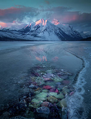 Photograph - Melt, Freeze, Repeat / Late Winter / Lake Mcdonald, Glacier National Park  by Nicholas Parker