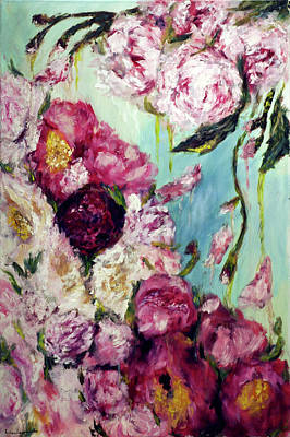 Painting - Melting Flowers by Ruslana Levandovska