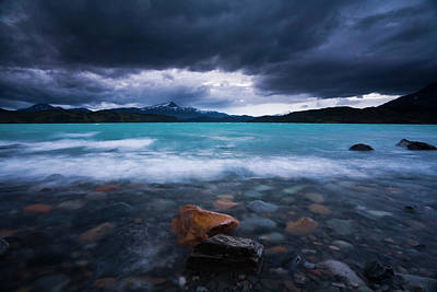 Photograph - Meltwater From Glaciers Pour Into Lago by Mint Images - Art Wolfe