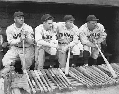 Photograph - Members Of The Chicago Cubs by Chicago History Museum