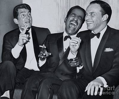 Wall Art - Photograph - Members Of The Rat Pack At Carnegie Hall #1 by The Titanic Project