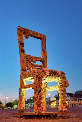 Photograph - Memorial Chair by Fabrizio Troiani