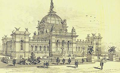Memorial Hall, Centennial Art Print
