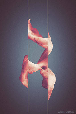 Photograph - Memorism - Surreal Abstract Elephant Bone Collage With Lines by Joseph Westrupp