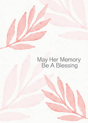 Mixed Media - Memory Blessing Coral- Art By Linda Woods by Linda Woods