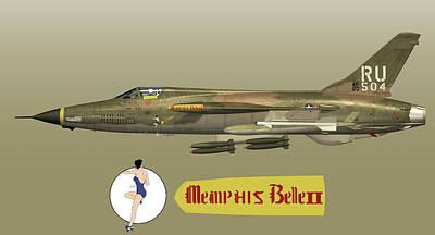 Digital Art - Memphis Belle II Profile 2 by John Matthews