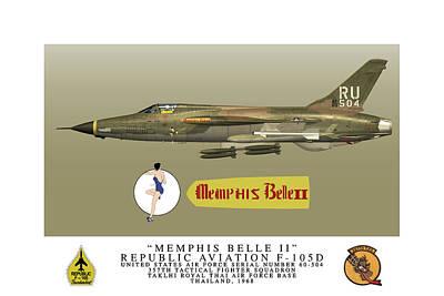 Digital Art - Memphis Belle II Profile by John Matthews