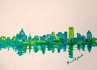 Painting - Memphis Green by Kendall Kessler