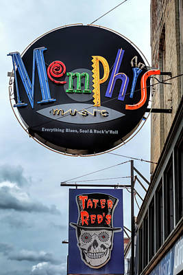 Photograph - Memphis Music And Tater Red's by Susan Rissi Tregoning