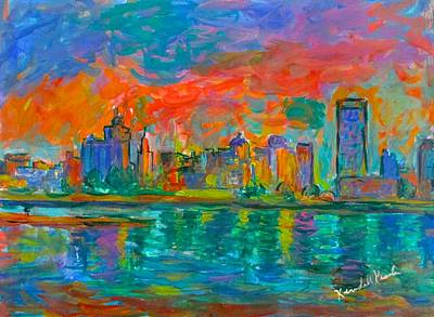 Painting - Memphis Reflections Stage One by Kendall Kessler