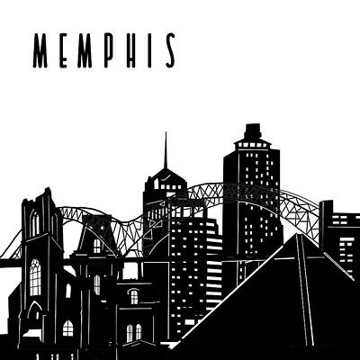Digital Art Royalty Free Images - Memphis Skyline Panorama Royalty-Free Image by Bekim Art
