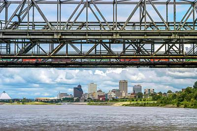 Kim Fearheiley Photography - Memphis Skyline under Bridges by James C Richardson
