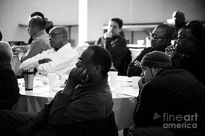 Frank J Casella Royalty-Free and Rights-Managed Images - Men Listening at Prayer Breakfast by Frank J Casella