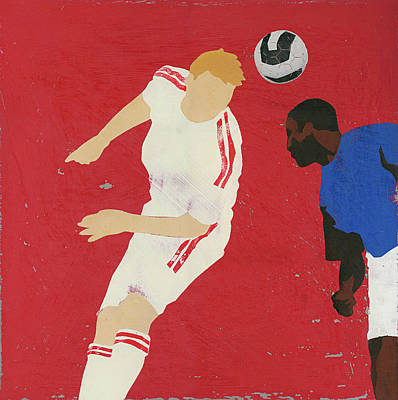Digital Art - Men Playing Soccer by Andy Bridge