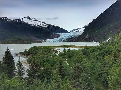 Photograph - Mendenhall Glacier by Anne Sands