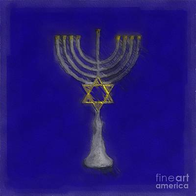 Royalty-Free and Rights-Managed Images - Menorah by Esoterica Art Agency