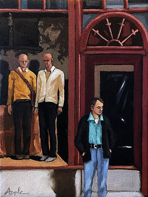 Painting - Men's Fashion Oil Painting by Linda Apple