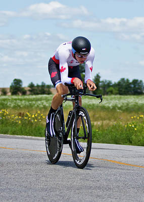 Art Print featuring the photograph Mens Individual Time Trial No 1 by Brian Carson