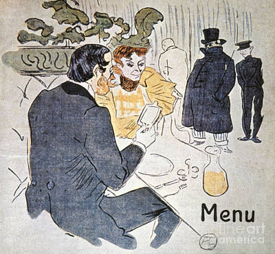 Photograph - Menu by Toulouse-lautrec
