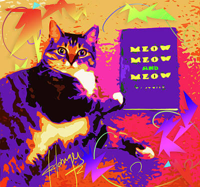 Painting - Meow, Meow And Meow by DC Langer