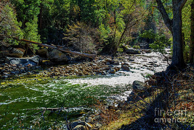 Wall Art - Photograph - Merced River Flowing At Yosemite by Roslyn Wilkins