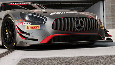 Photograph - Mercedes Amg Gt3 - 47 by Andrea Mazzocchetti