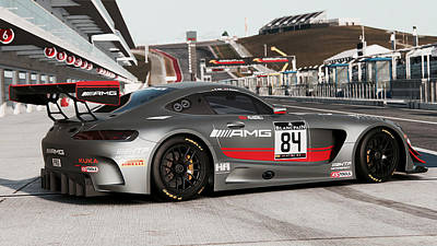 Photograph - Mercedes Amg Gt3 - 50 by Andrea Mazzocchetti