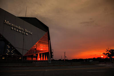 Photograph - Mercedes Benz Stadium by Kenny Thomas