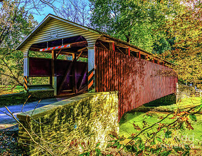 Photograph - Mercer's Ford Covered Bridge by Nick Zelinsky