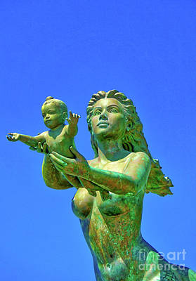 Digital Art - Mermaid And Child by Ian Gledhill