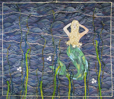 Tapestry - Textile - Mermaid Haiku by Pam Geisel