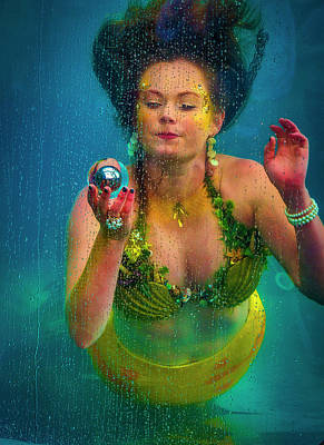 Photograph - Mermaid Holding Sphere by Garry Gay