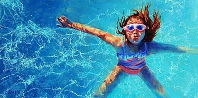 Lynee Sapere Wall Art - Painting - Mermaid by Lynee Sapere