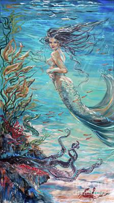 Painting - Mermaid Neighbors by Linda Olsen
