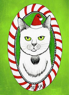 Drawing - Merry Catmas by Shawna Rowe