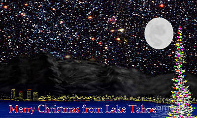 Impressionist Landscapes - Merry Christmas from Lake Tahoe by Ed Moore