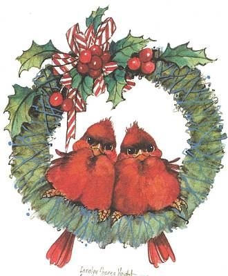 Wall Art - Painting - Merry Wreath II by Carolyn Shores Wright