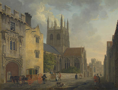 Painting - Merton College, Oxford by Michael Angelo Rooker