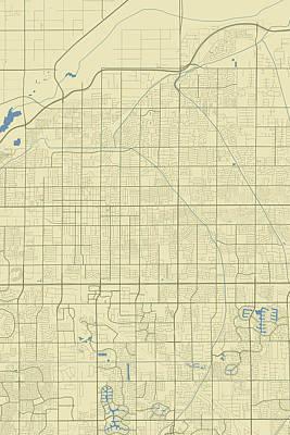 Owls - Mesa Arizona USA Classic Map by Jurq Studio
